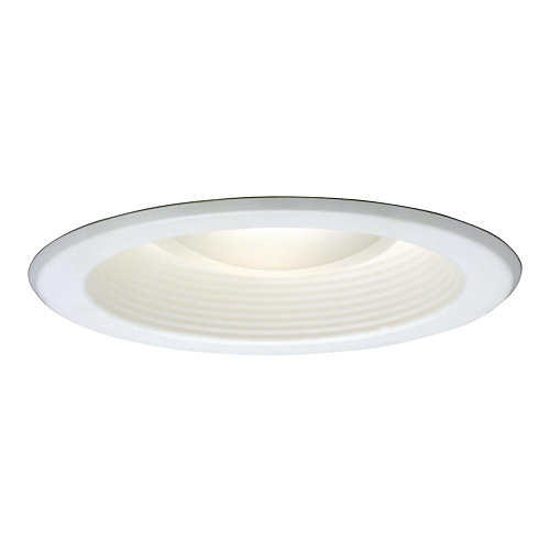 5001 Series 5-inch White Recessed Ceiling Light with Baffle Trim