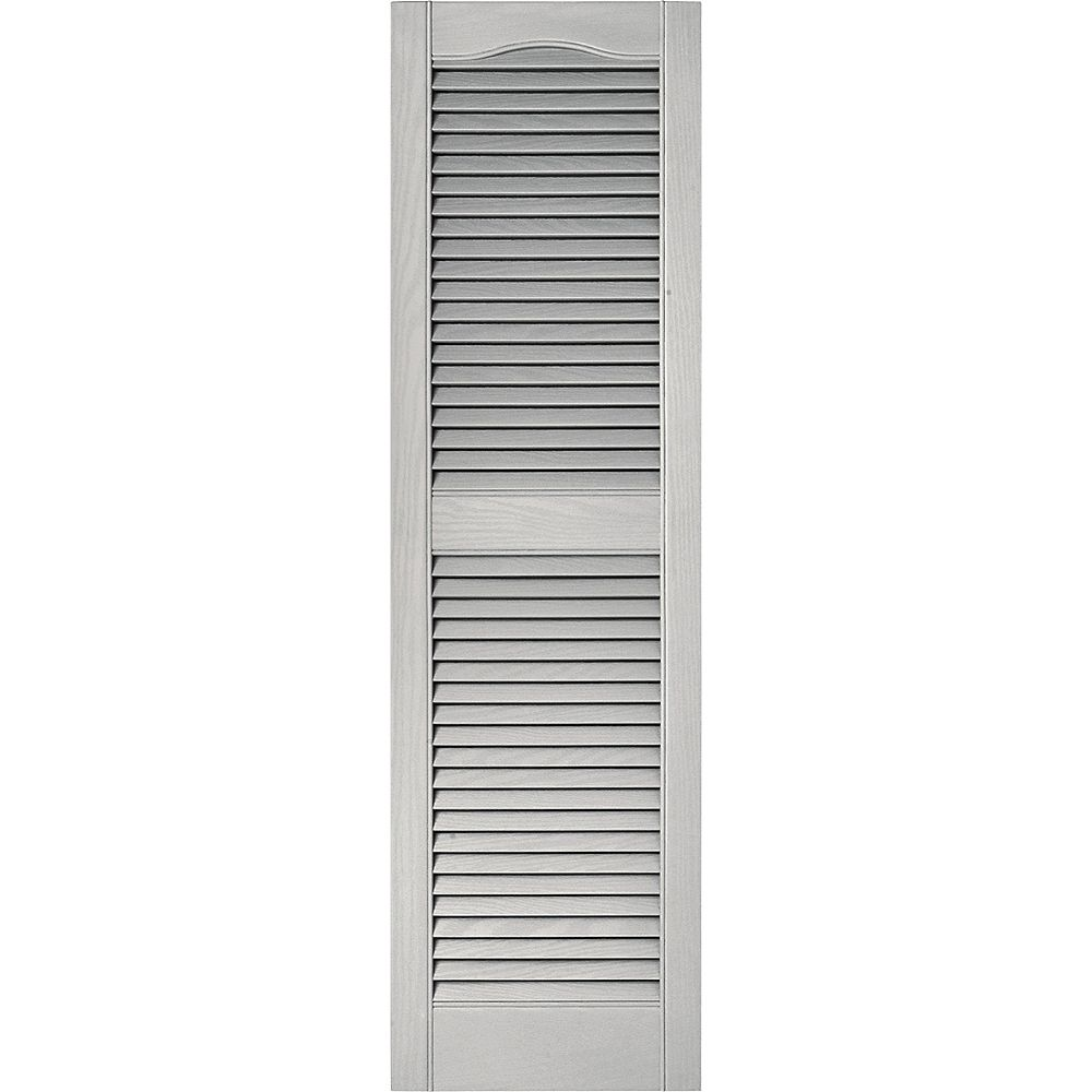 Builders Edge 15-inch x 48-inch Paintable Louvered Shutters