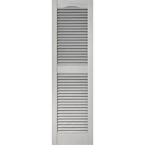 15-inch x 48-inch Paintable Louvered Shutters