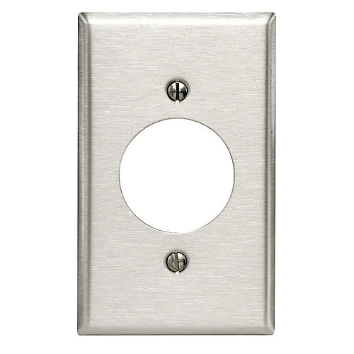 1-Gang  Plate 20/30 Amp, Stainless Steel