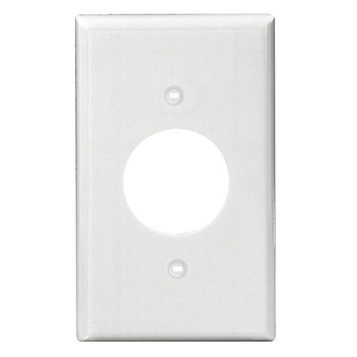 Power Outlet Single Gang Nylon wall plate,White