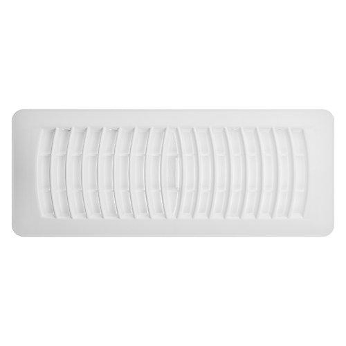 4 inch x 12 inch Plastic Floor Register - Blanc