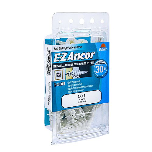 #6 E-Z Ancor(R) Drywall Anchor in Nylon - 50 pcs