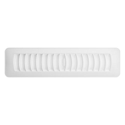 2.25 x 12 Inch Plastic Floor Register - White