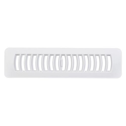 2.25 x 12 Inch Plastic Floor Register - White