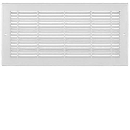 12 inch x 6 inch Plastic Sidewall Grille - White