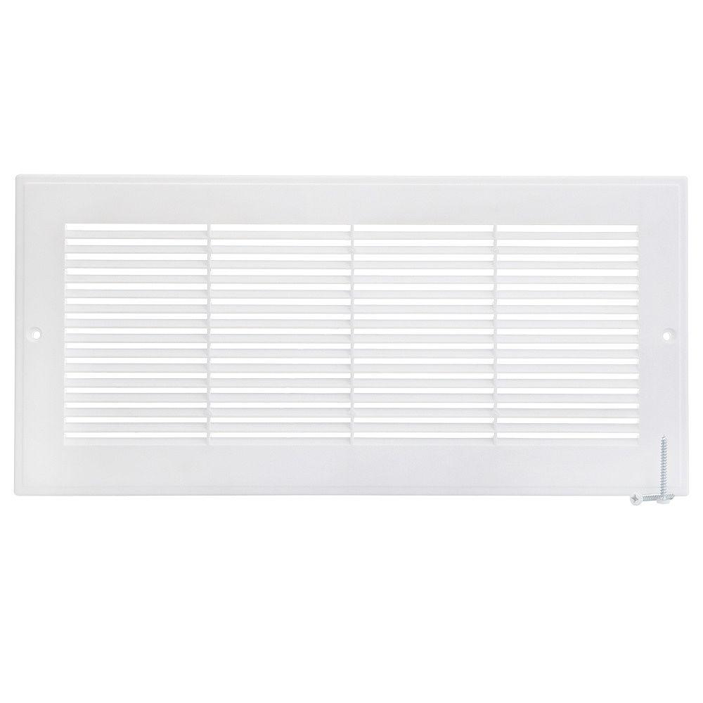 HDX 14 inch x 6 inch Plastic Sidewall Grille - White