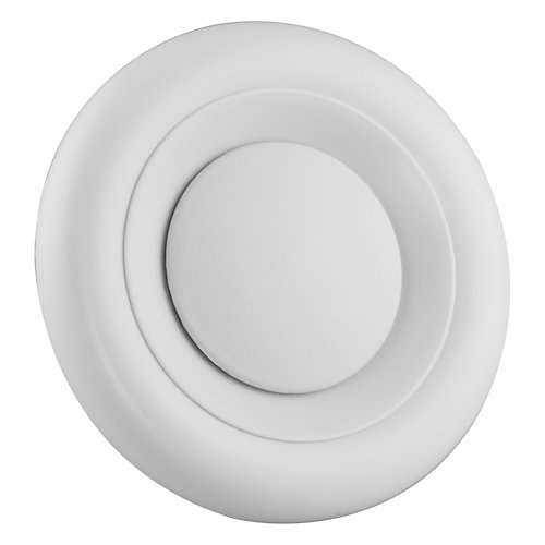 4 inch - 5 inch Round Air Diffuser White