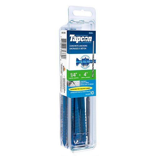 1/4-inch x 4-inch Phillips Tapcon Concrete Screw With Bit