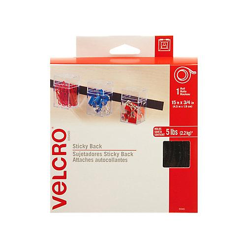 Sticky Back 15 ft. x 3/4 inch tape. black. 3/12 (TRI)