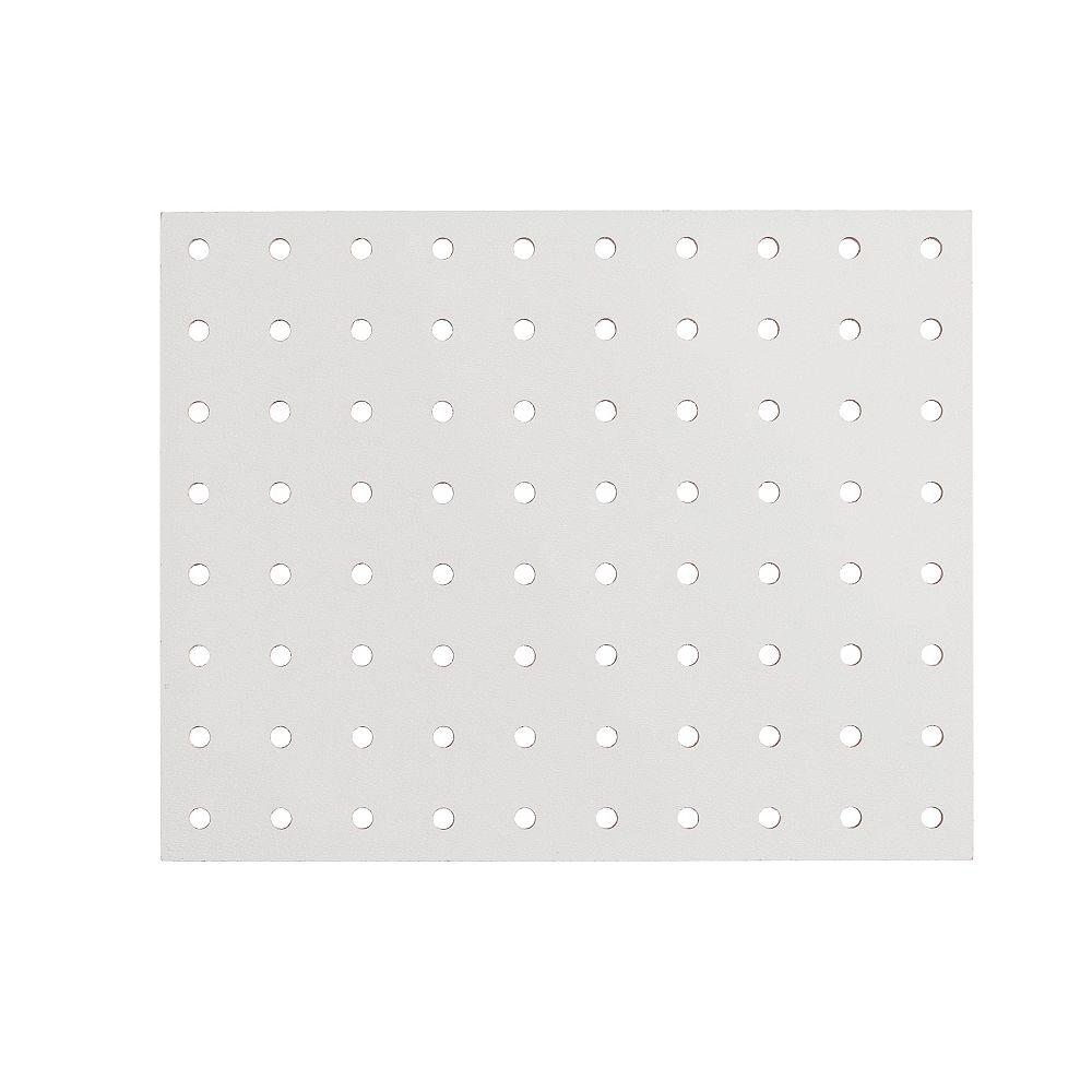 Fibrex Panneau de fibres dures haute densité perforé 5,5mm 48po x 96po - Blanc