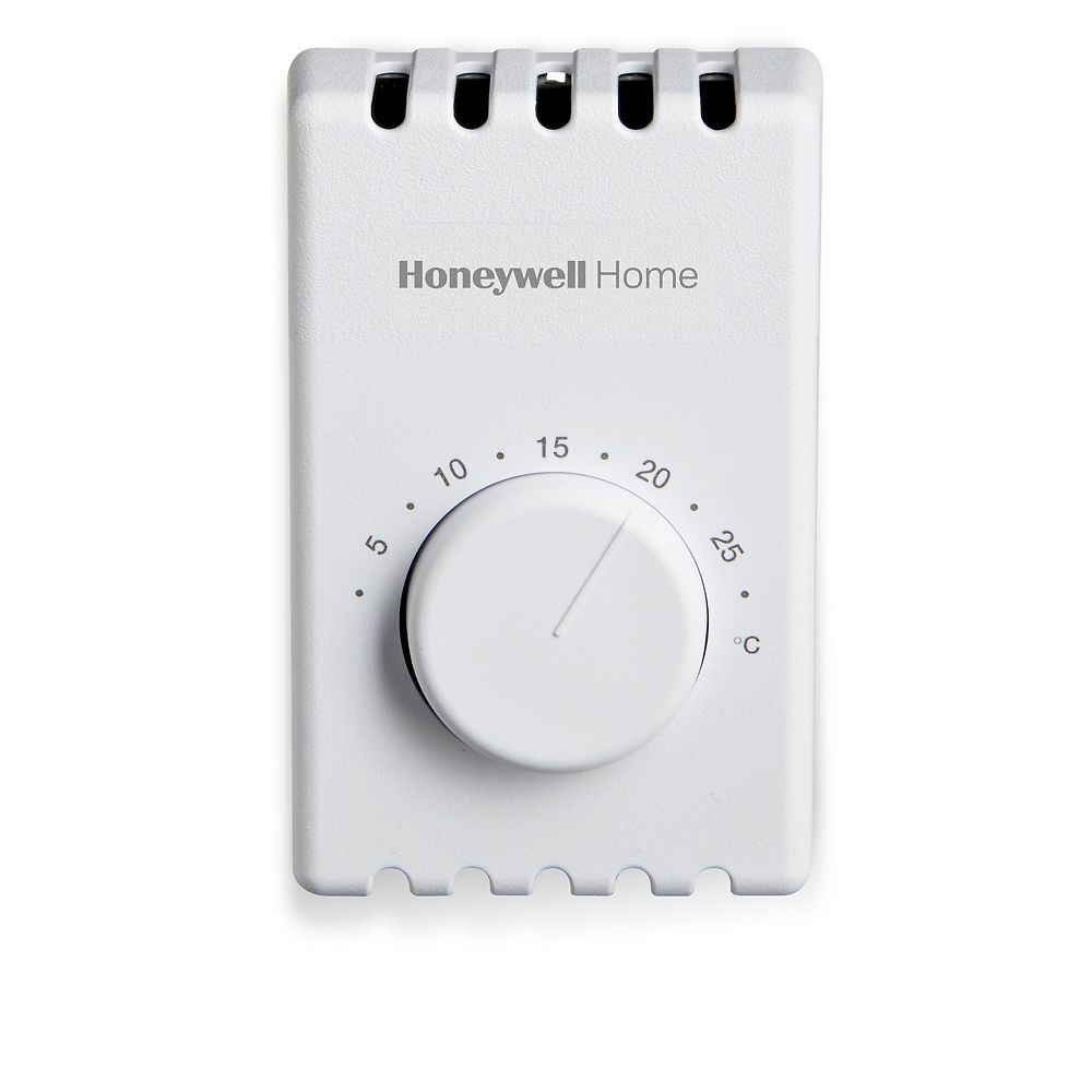 Honeywell Manual 2 Wire Electric Baseboard Heat Thermostat The Home Depot Canada