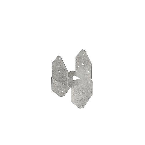 Simpson Strong-Tie Capuchon de poteau galvanisé ZMAX BCS/Base pour poutre 2x double, poteau 4x