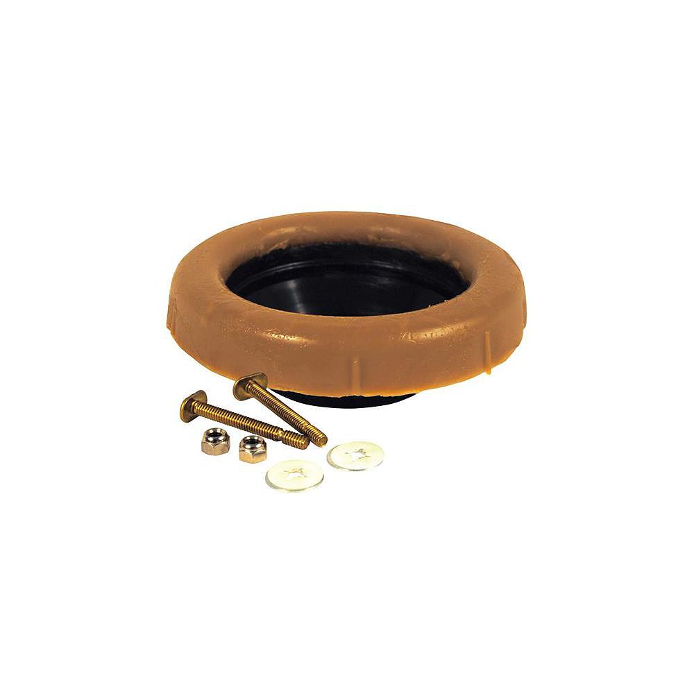 Oatey Toilet Wax Bowl Ring With Sleeve & 2-1/4 Inch Brass Bolts