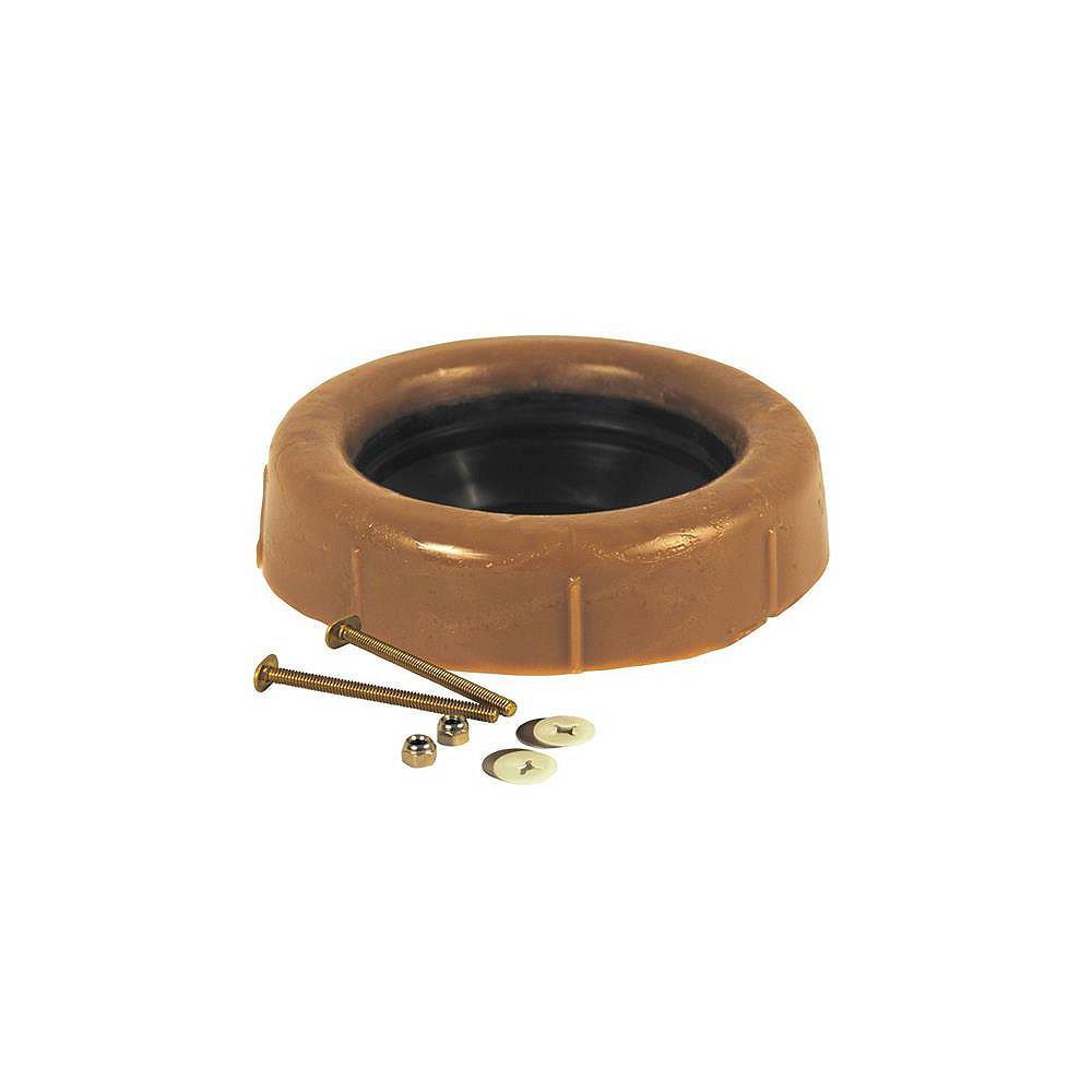 Oatey Extension Toilet Wax Ring With Sleeve & 3 Inch Brass Bolts