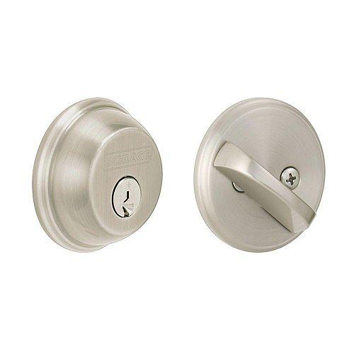 Nickel Single Cylinder Exterior Door Deadbolt with Rated AAA