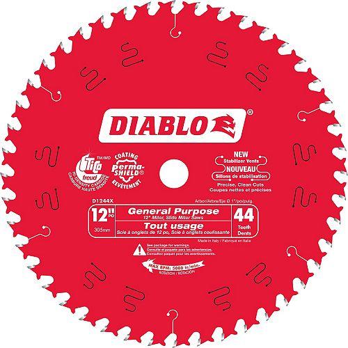 Lame d'utilisation générale Diablo 12 po Freux - 44 dents