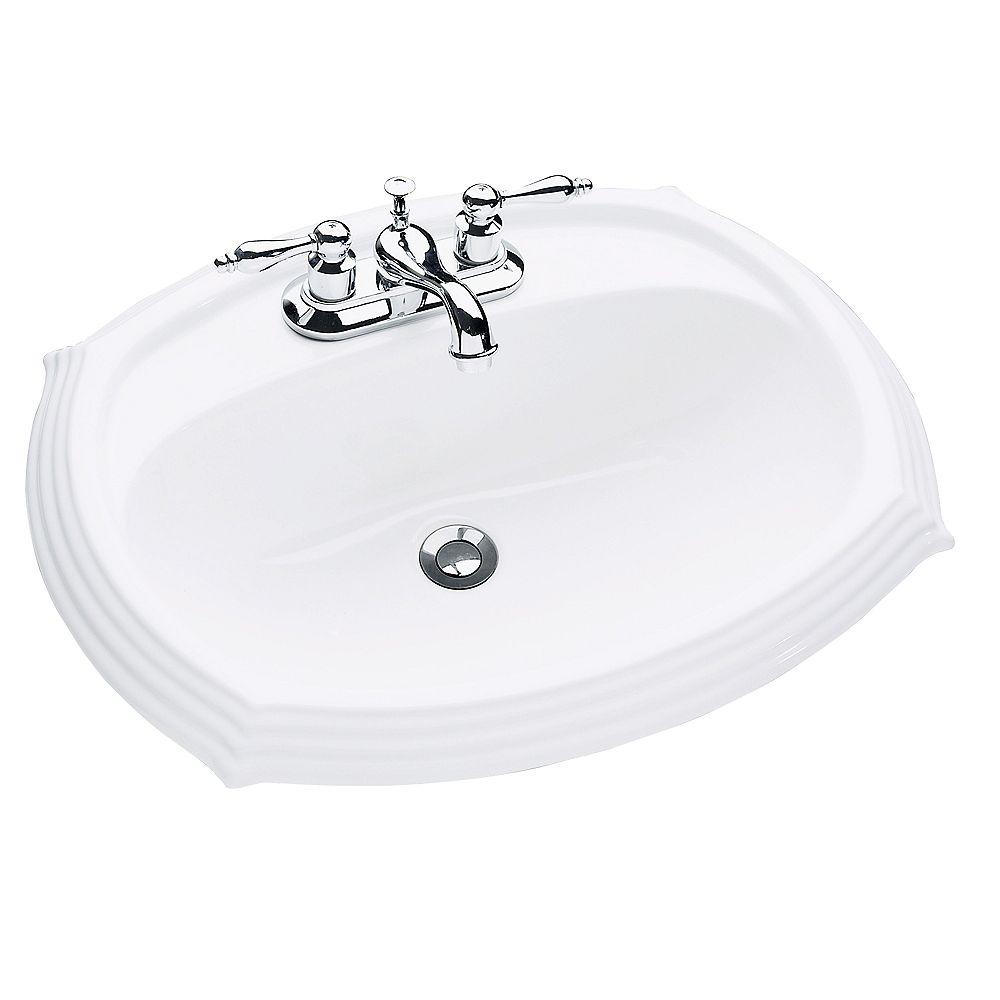 Glacier Bay Regent Oval Drop In Bathroom Sink White The Home Depot Canada