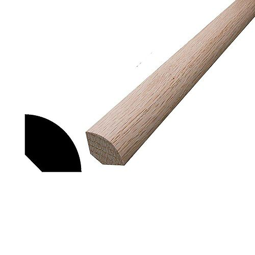 Oak Quarter Round 11/16-inch x 11/16-inch x 8 Ft.