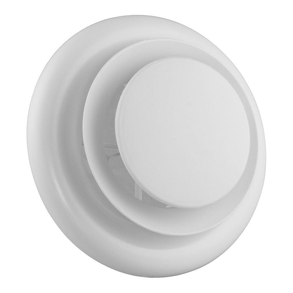 HDX 5 inch - 6 inch Round Air Diffuser White THD