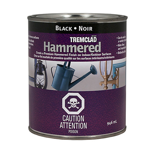 Hammered Finish Paint In Black, 946 mL