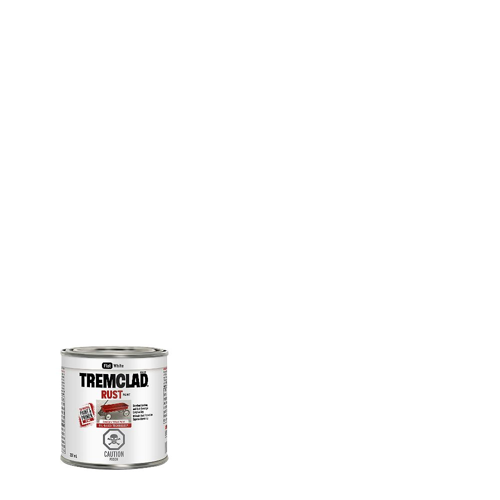 TREMCLAD Oil-Based Rust Paint In Flat White, 237 mL