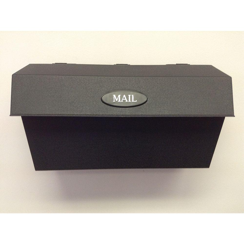 DMP Boîtes aux lettres murales en plastique - Noir