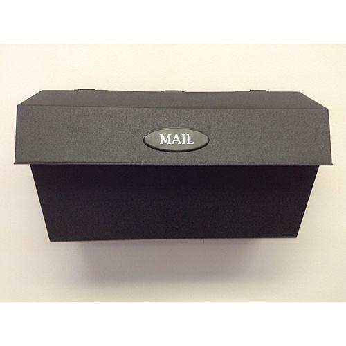 Wall Mount Plastic Mailbox, Black