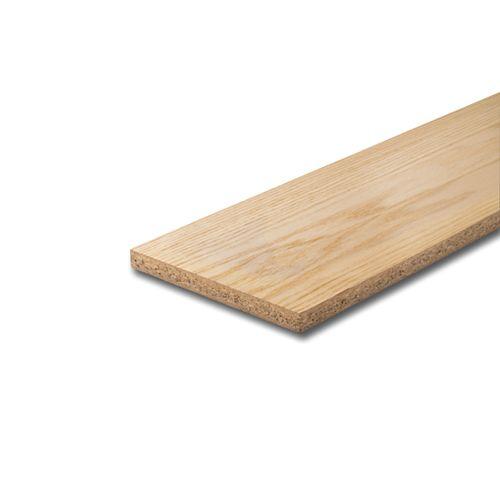 3/4-inch x 7 1/2-inch x 42-inch Unfinished Oak Veneer Riser
