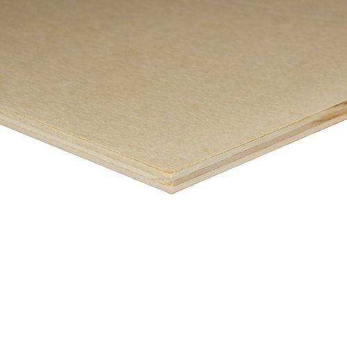 Panneau prédécoupé de contreplaqué de bouleau,  1/4 po x 2 pi x 2pi