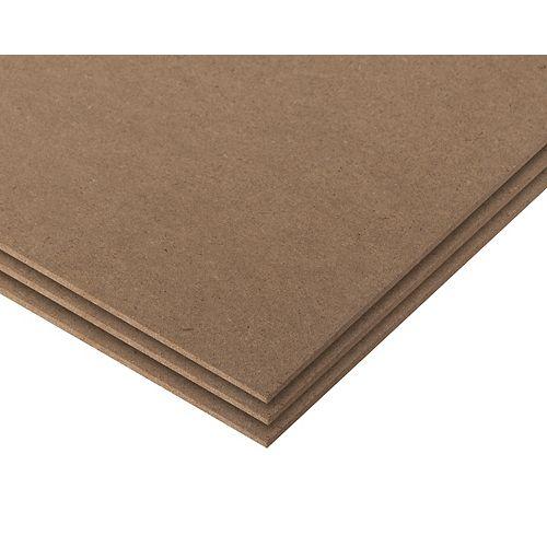 Panneau de fibres dures de 1/8pox24pox24po