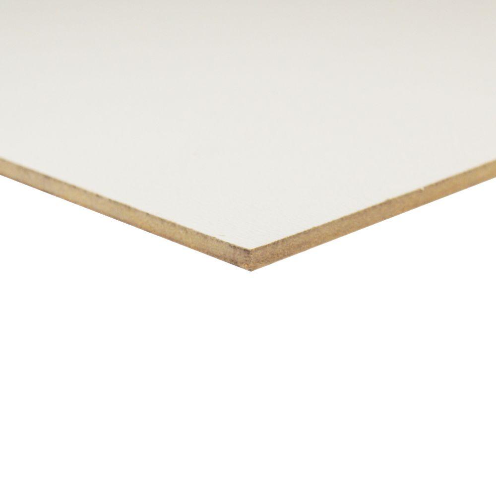 Alexandria Moulding 1/8-inch x 24-inch x 24-inch White Melamine Handy Panel