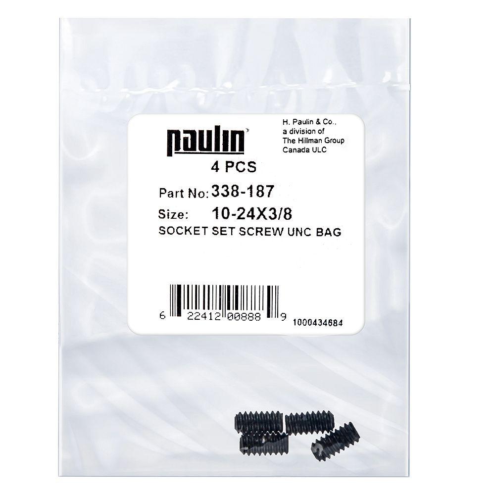 Paulin 10-24 x 3/8 pouces Vis à douille en acier UNC phosphatées - 4 pcs