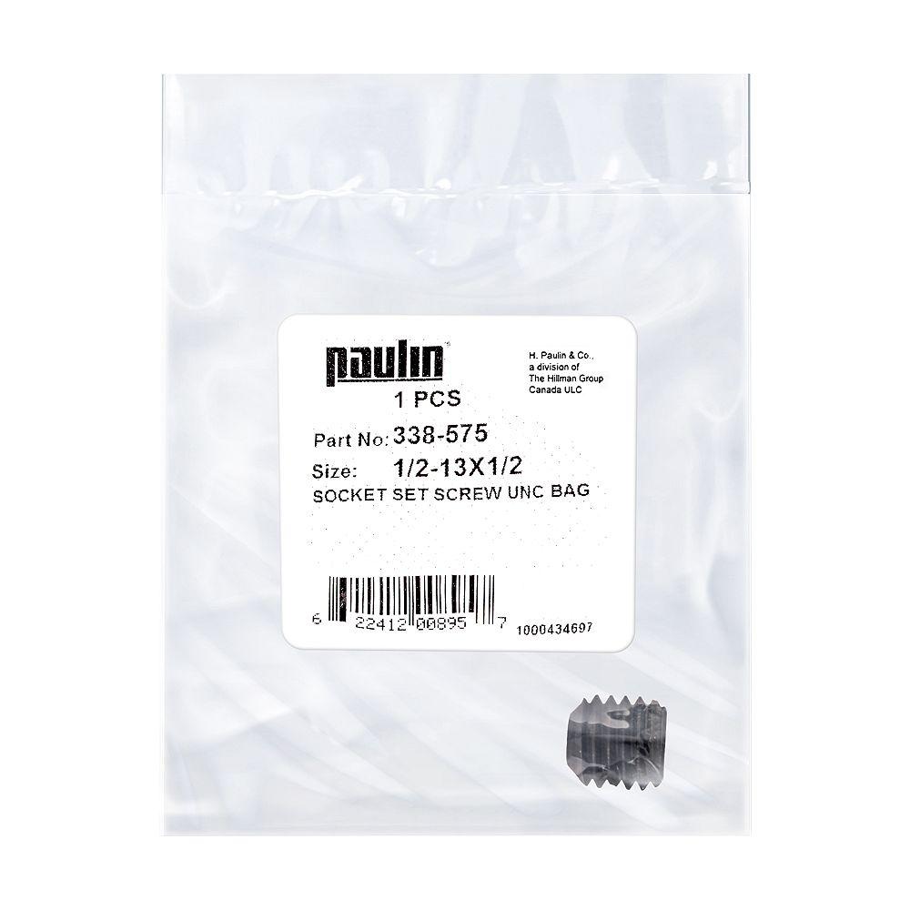Paulin Vis à douille en acier 1/2-13 x 1/2 pouce UNC phosphatées - 1 pc