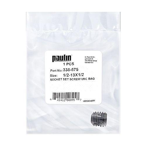1/2-13 x 1/2-inch Steel Socket Set Screws UNC Phosphate Coated -  1 pc