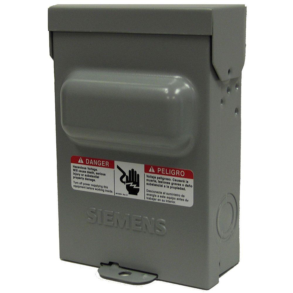Siemens 60A 240V sans fusible Siemens climatisation interrupteur de déconnexion