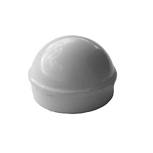 Capuchon de poteau principal blanc 1-7/8 po