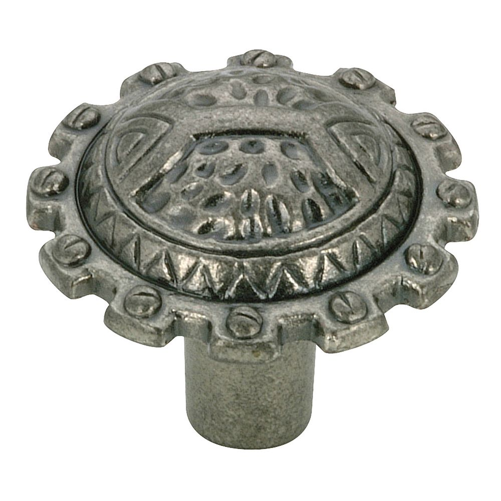 Richelieu 1 1/4 in (32 mm) Pewter Traditional Cabinet Knob