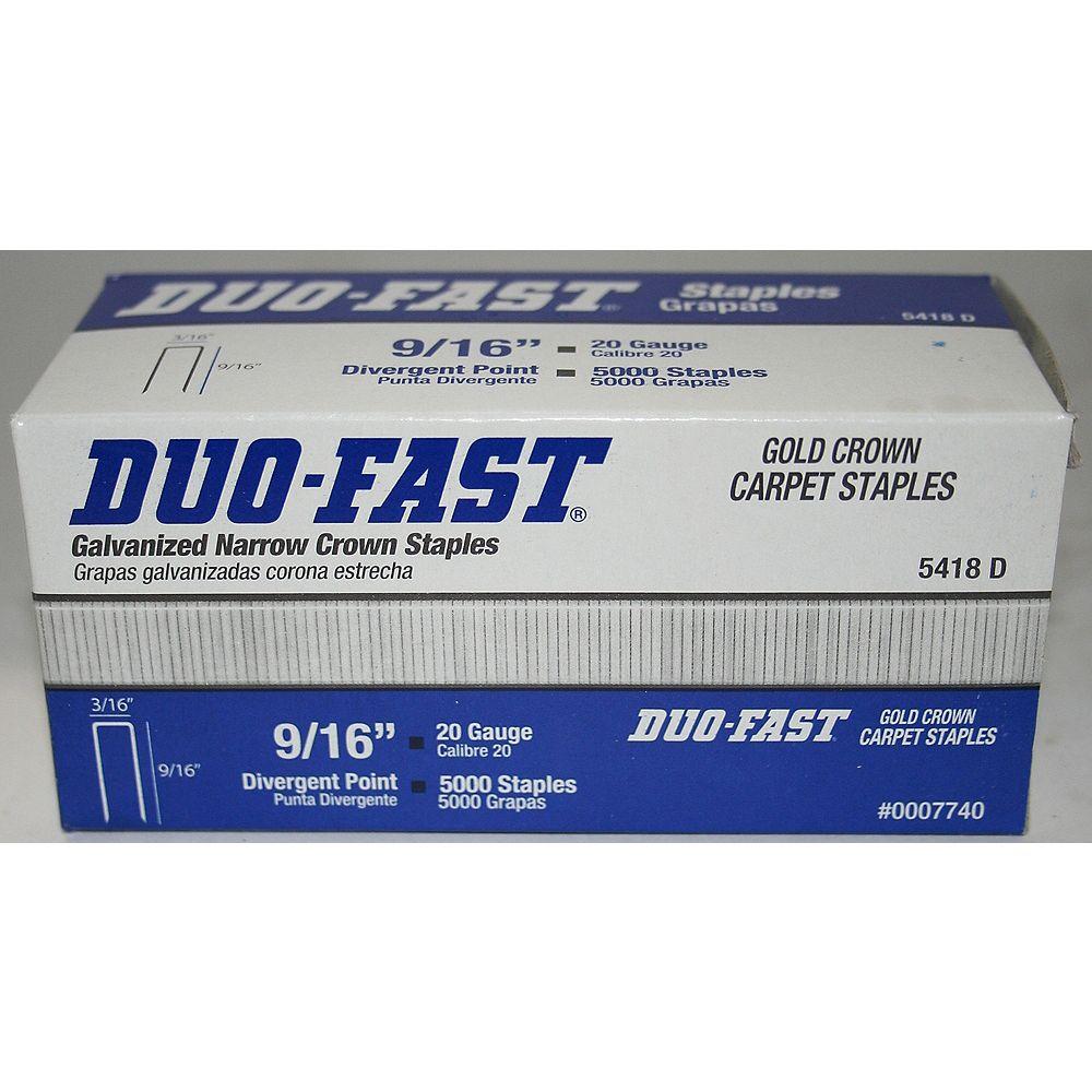 Duo-Fast Duofast 9/16 Inch Carpet Staples