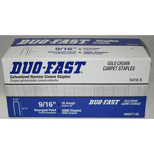 Duo-Fast Agrafes à tapis 9/16 po  duofast