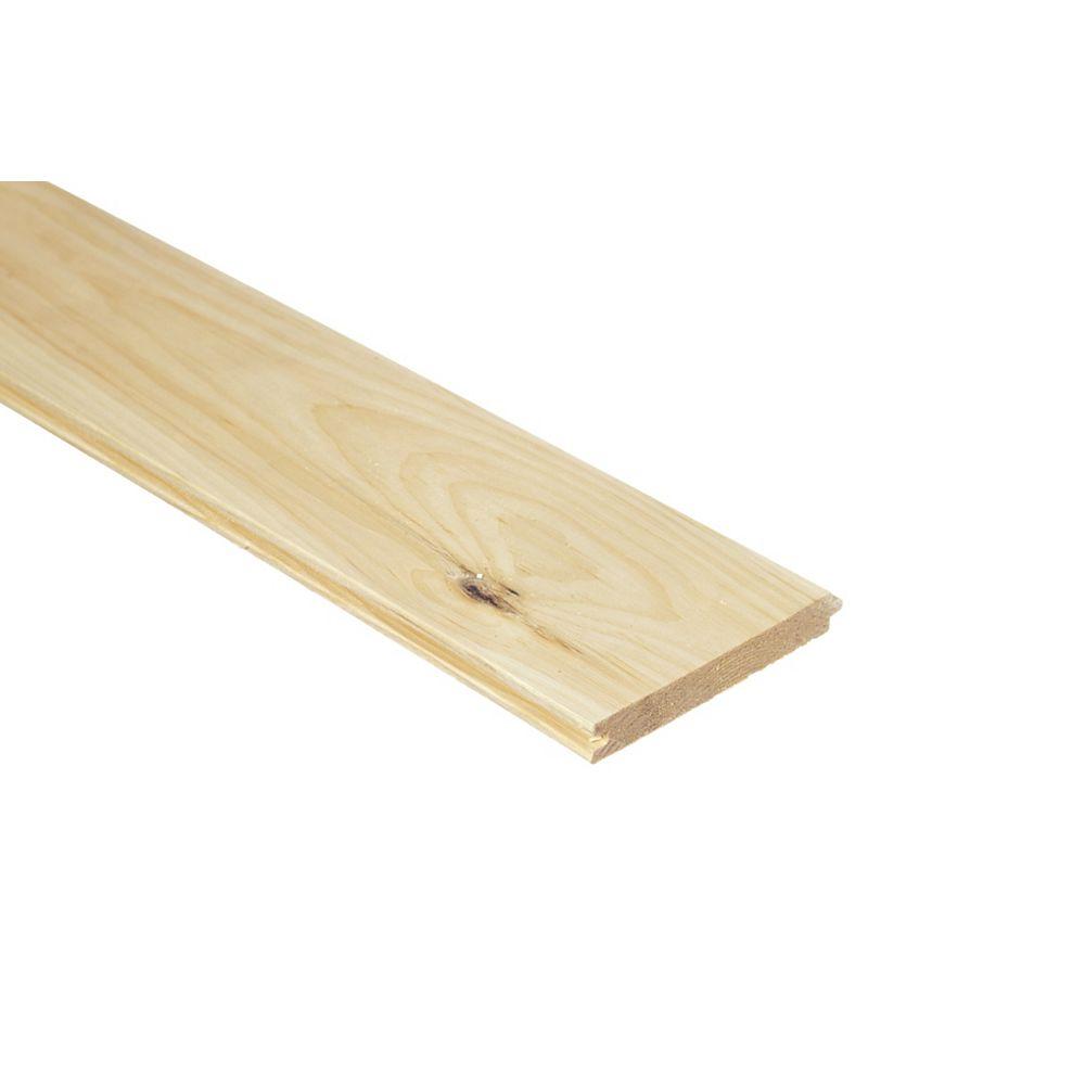 Whitewood 1x6x8 Pin embouveté
