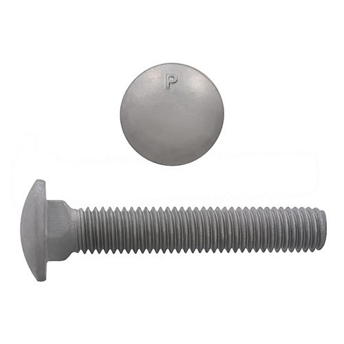Paulin 1/2-inch x 3-inch Carriage Bolt - Hot Dipped Galvanized - UNC