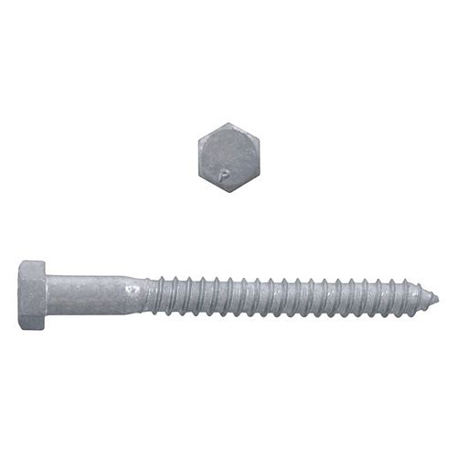 1/2-inch x 5-inch Hex Head Lag Bolt - Hot Dipped Galvanized