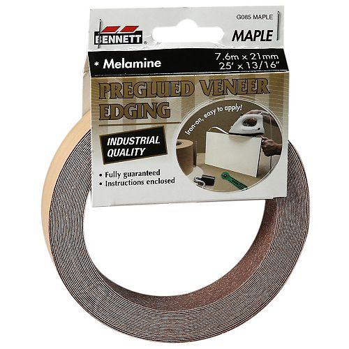 7.6m x 21mm Melamine Erable bande de bordure