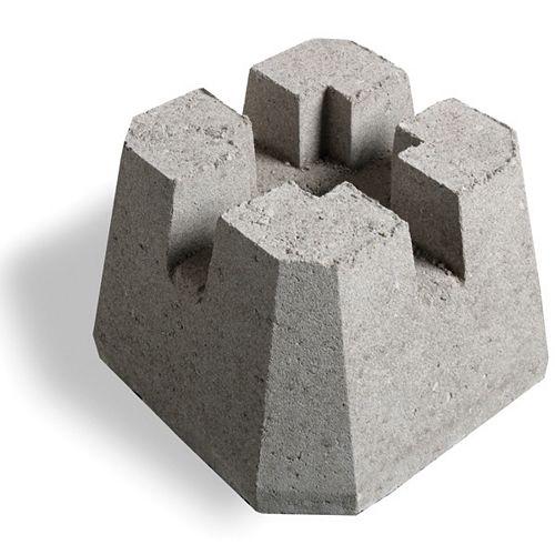 Soutien de poteau Dek-Block 4 po. x 4 po.