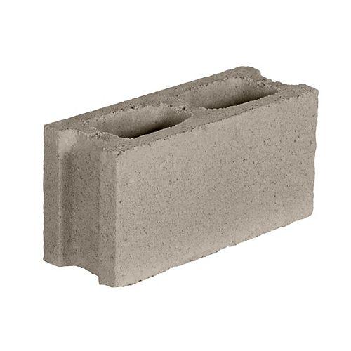 16-inch W x 8-inch H x 6-inch D Concrete Block