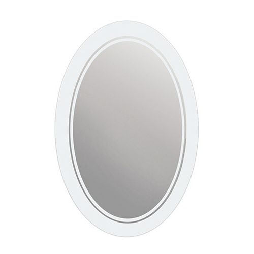 Deco Mirror 58,42 cm x 73,66 cm Miroir ovale givré
