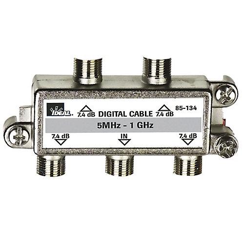 4 Way Digital Cable TV Splitter