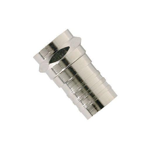 Connecteur RG6 de type F de sertissage pour câblodistribution, paquet de 10