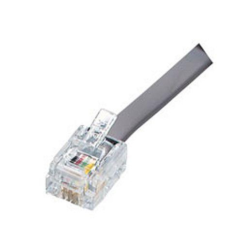 6-Position 4-Contact Telcom Modular Plug (25-Pack)